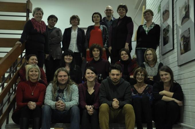 Grupowe zdjęcie z Radkiem Ładczukiem